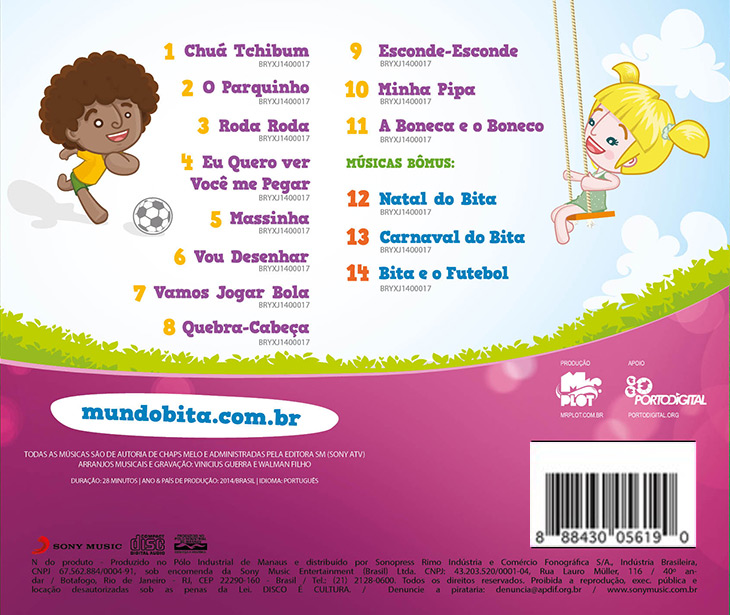 CD BITA E AS BRINCADEIRAS  - Lojinha do Bita