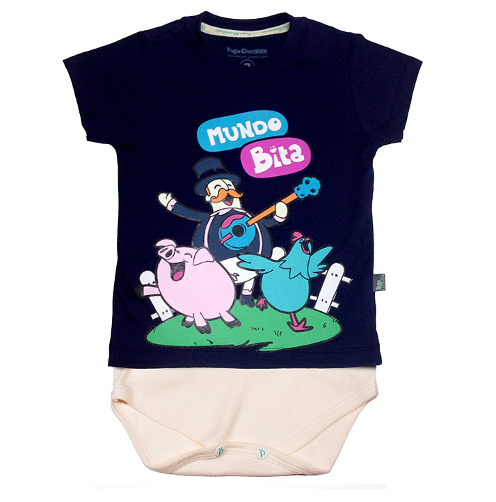 Camiseta-body Fazendinha  - Lojinha do Bita