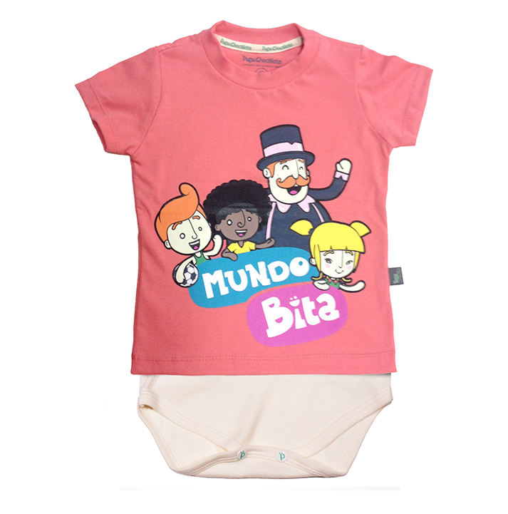 Camiseta-body Mundo Bita  - Lojinha do Bita
