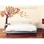 008 - Arvore  Adesivo Decorativo - Novas medidas Outono
