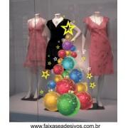 Adesivo Arvore Bolas de Natal - 2521