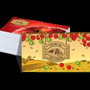 002 - Cartão de Visita 4x4 cor - corte reto - SEM VERNIZ - 250g