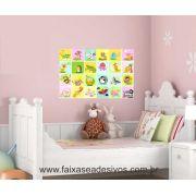 Adesivo Decorativo de Parede Infantil Safarinho - 80x60cm - P105