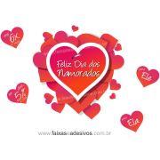 A301N - Adesivo Dia dos Namorados - Cora��es Quente