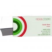 001 - Cartão de Visita 4x0 cor - corte reto - SEM VERNIZ - 250g
