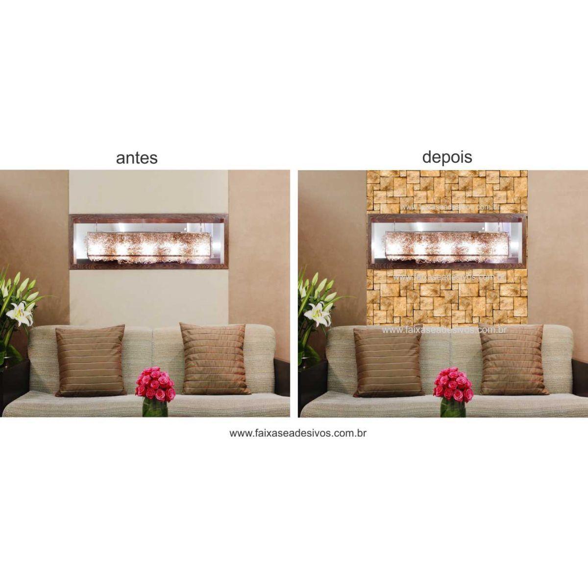 Artesanato Valença Rj ~ 003 Adesivo Decorativo de parede Pedra rolo 0,60×3,00m FAC Signs Impress u00e3o Digital