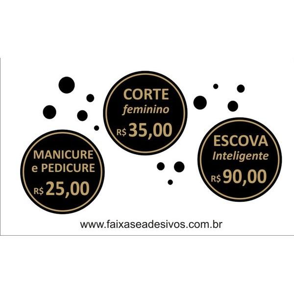 Aparador Ferro Mercado Livre ~ Adesivo sal u00e3o de beleza 22cm FAC Signs Impress u00e3o Digital