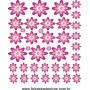 Pik� Flores Pink adesivo cartela 1,20 x 1,40cm