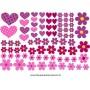 AB201 - Adesivo Cartela de Flores e cora��es