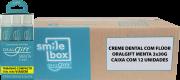 Cx c/ 12un. do Creme Dental OralGift com de 3 un. de 30g custo un. R$ 8,05.