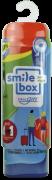 Kit Dental SmileBox OralGift Pra Viajar Retrátil com estojo, fio, escova e creme dental cx c/ 12 unidades