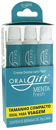 Creme Dental OralGift 3 unidades de 30g cada