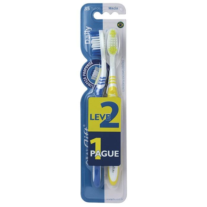 Escova de Dente Adulta OralGift Daily Leve 2 e Pague 1
