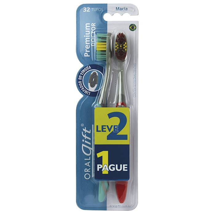 Escova de Dente OralGift Premium Doctor Leve 2 e Pague 1