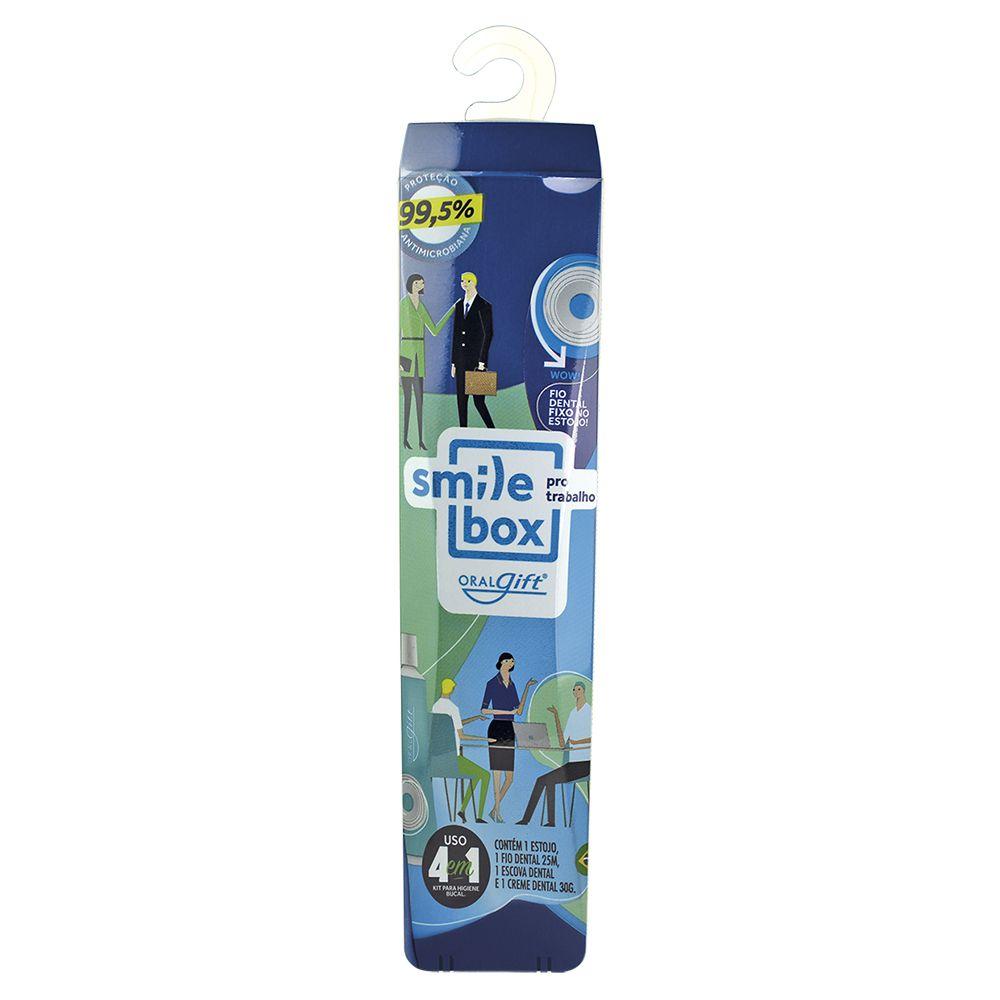 SmileBox OralGift Pro Trabalho Slim com estojo, fio, escova e creme dental