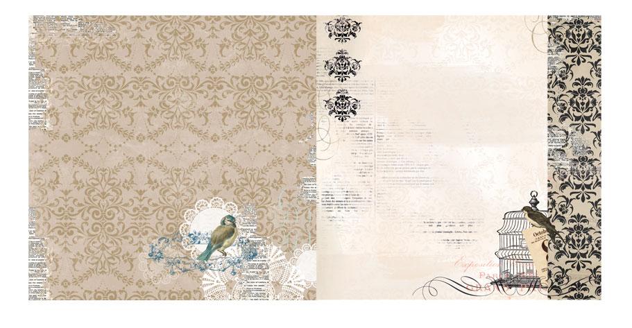 Papel - The Avenues Antique  - Bo Bunny  - JuJu Scrapbook