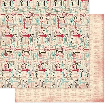 Papel - Love Letters / Love Letters Keys  - Bo Bunny  - JuJu Scrapbook