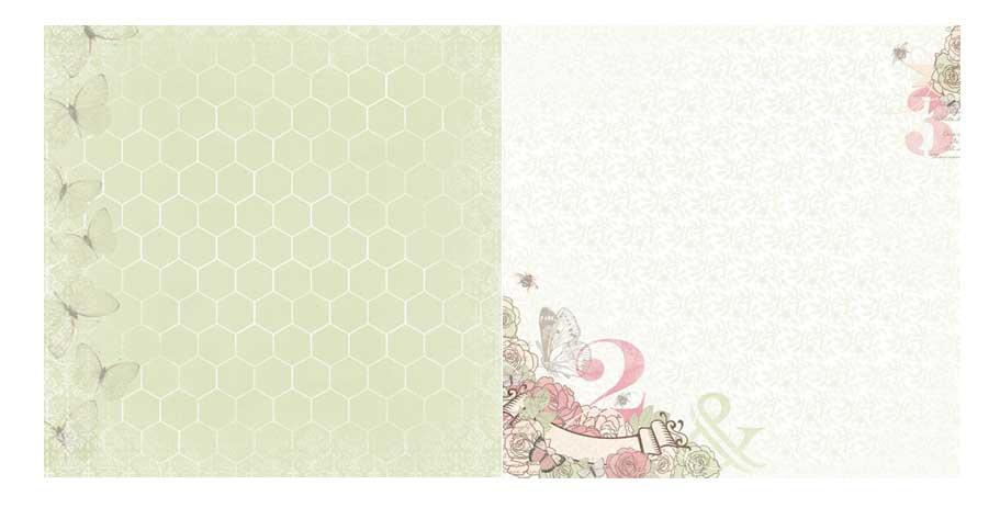 Papel - Primrose / Primrose Memories - Bo Bunny  - JuJu Scrapbook