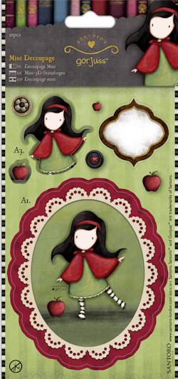 Mini Decoupage - Simply Gorjuss - Little Red  - JuJu Scrapbook