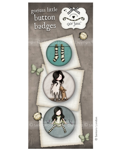 Gorjuss button badges - set 8  - JuJu Scrapbook