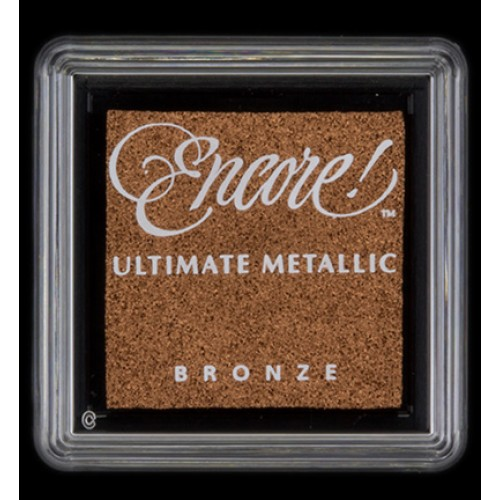 Carimbeira Encore Ultimate Pequena Metallic - Cor Bronze  - JuJu Scrapbook