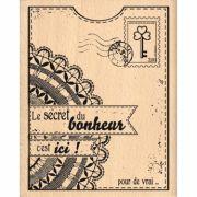 Carimbo Le Secret du Bonheur - Florilèges Design