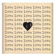 Carimbo Carré Love - Florilèges Design