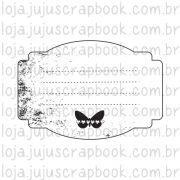 Carimbo Modelo  Journaling Borboleta - Coleção Família para Sempre / JuJu Scrapbook