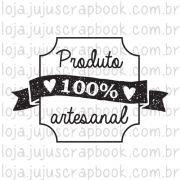 Carimbo Modelo Produto 100% Artesanal - Coleção Love Scrap / JuJu Scrapbook