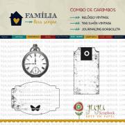 Combo de Carimbos Modelo Relógio - Coleção Família para Sempre / JuJu Scrapbook