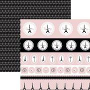 Papel Inspiração Paris - Selos e Tags - By Mariceli Massuci / Toke e Crie