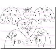 Carimbo Treasured Times - Modelo Love Forever Angel