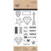 Carimbo + Die - Stamp Cut Sparkle / Art C