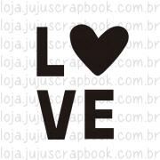 Carimbo Modelo LOVE - Coleção Família para Sempre / JuJu Scrapbook