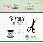 Combo de Carimbos Modelo Tesourinha - Coleção Love Scrap / Juju Scrapbook