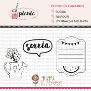 Combo de Carimbos Modelo Sorria - Coleção Picnic / Juju Scrapbook