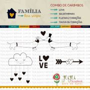 Combo de Carimbos Modelo LOVE - Coleção Família para Sempre / JuJu Scrapbook