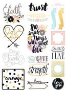 Stickers Love Faith Scrap / Prima Marketing