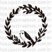 Carimbo Modelo Guirlanda Passarinho - Coleção Floresta Encantada / Juju Scrapbook