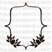 Carimbo Modelo Moldura Folhas - Coleção Floresta Encantada / Juju Scrapbook