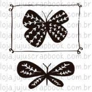 Carimbo Modelo Borboletas - Coleção Floresta Encantada / Juju Scrapbook