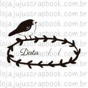 Carimbo Modelo Data Passarinho - Coleção Floresta Encantada / Juju Scrapbook