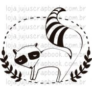 Carimbo Modelo Guaxinim - Coleção Floresta Encantada / Juju Scrapbook