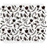 Carimbo Modelo Ramos e Flores - Coleção Floresta Encantada / Juju Scrapbook