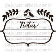 Carimbo Modelo Notas - Coleção Floresta Encantada / Juju Scrapbook