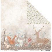 Kit com 12 - Papel Modelo Mistério do Bosque - Coleção Floresta Encantada / JuJu Scrapbook
