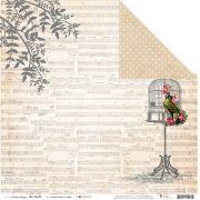 Kit com 12 - Papel Modelo Um Passarinho me Disse - Coleção Botânica Vintage / Juju Scrapbook