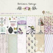 Kit Coordenado - Coleção Botânica Vintage / Juju Scrapbook