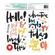 Chipboard Phrase Stickers Modelo
