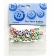 Botões Tiny Pastel Buttons 40 peças - Dress It Up